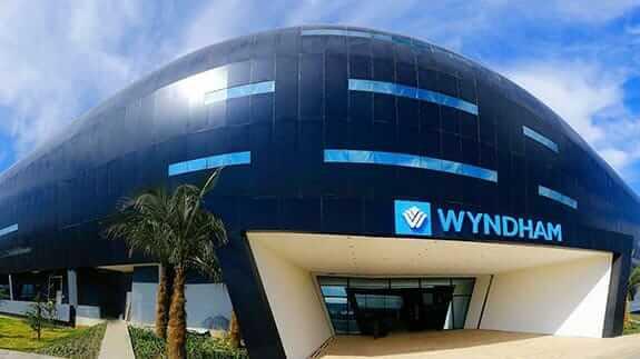 Wyndham hotel entrance at quito airport ecuador