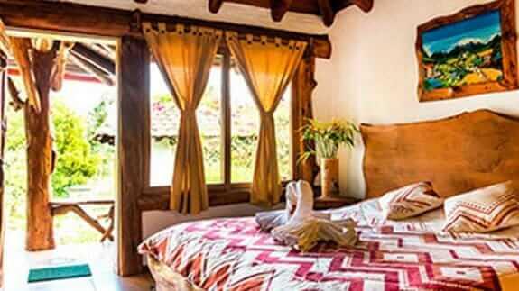 double bedroom at hotel zaysant puembo quito
