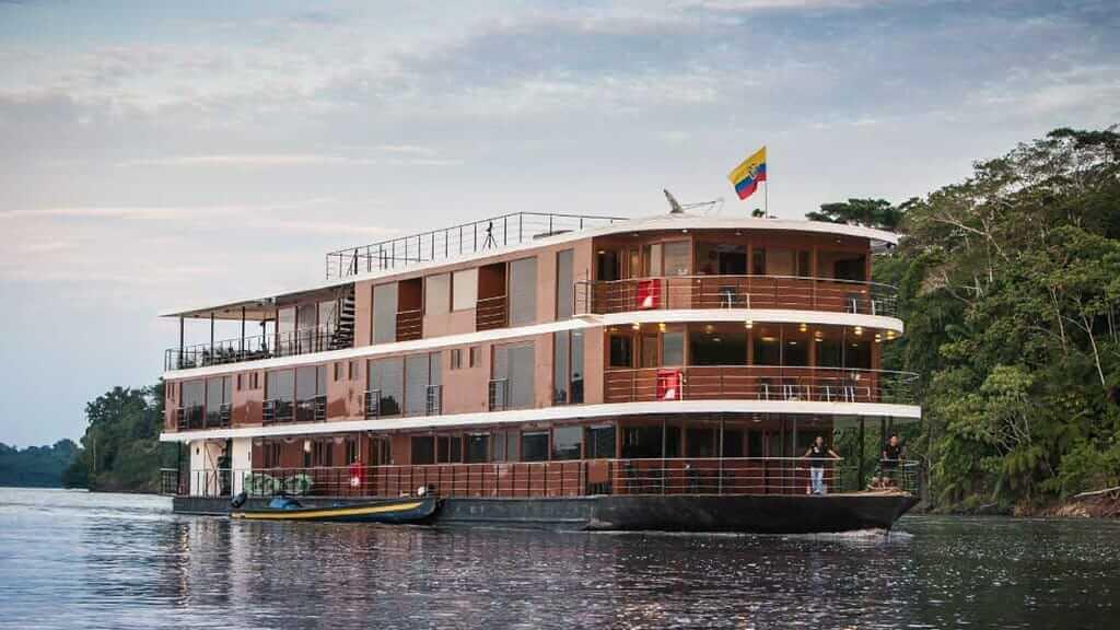anaconda amazon river cruise ship sailing down the river