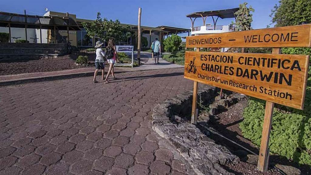 charles darwin station entrance on santa cruz island Galapagos