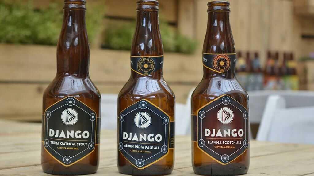 django cerveza artesanal ecuador - three bottles of django craft beer