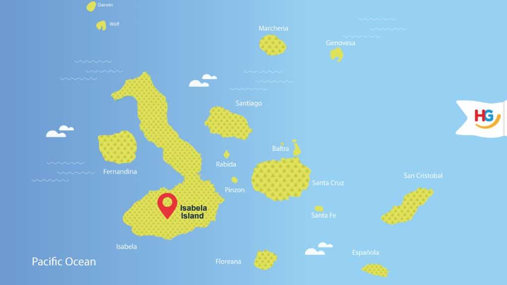 Galapagos map of isabela island - where is isabela galapagos?
