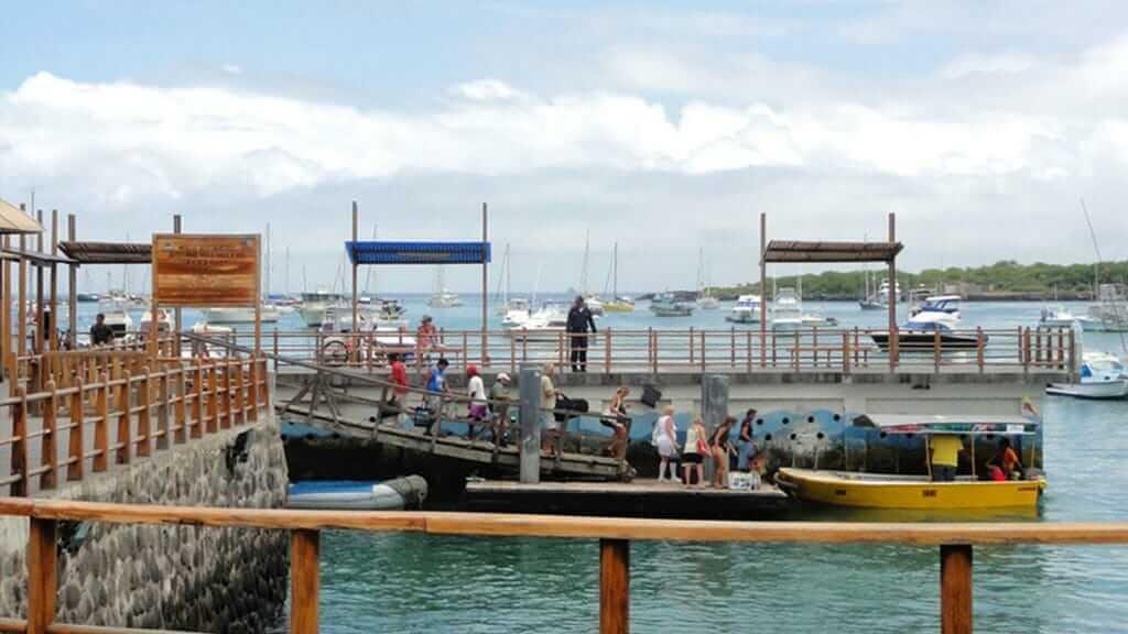 puerto baquerizo moreno port on san cristobal island galapagos