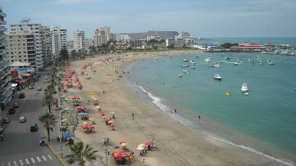 Salinas beach town in Santa Elena Ecuador