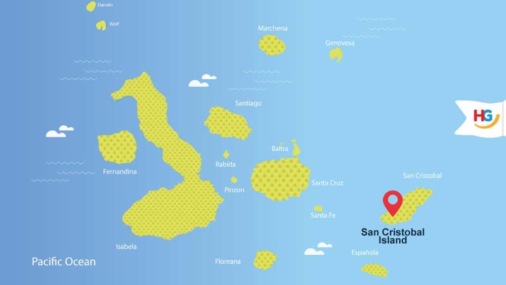 san cristobal galapagos map - where is san cristobal island?