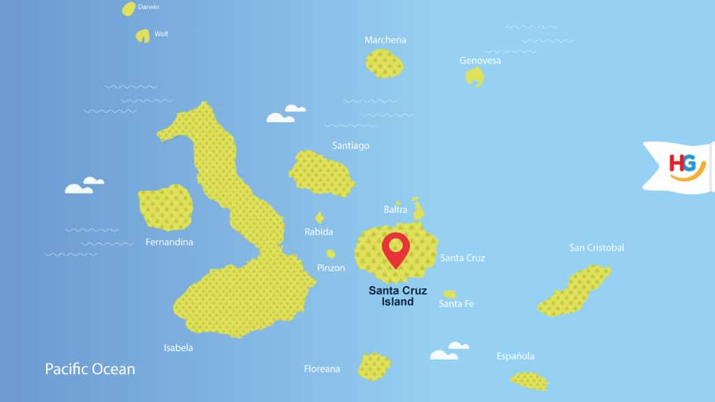 santa cruz Galapagos map - where is santa cruz island?