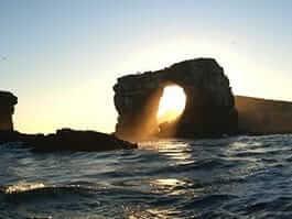 darwin's arch landscape at darwin island galapagos