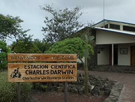 welcome to the charles darwin research station at puerto ayora santa cruz galapagos