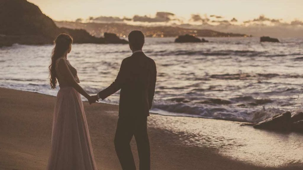 wedding on the beach at vina del mar chile south america