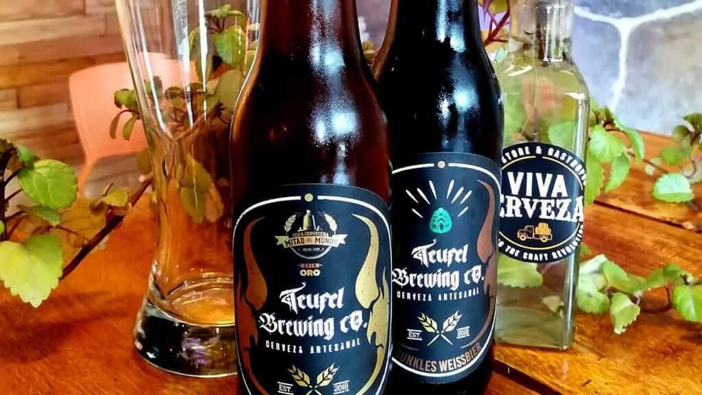 bottles of viva cerveza in quito