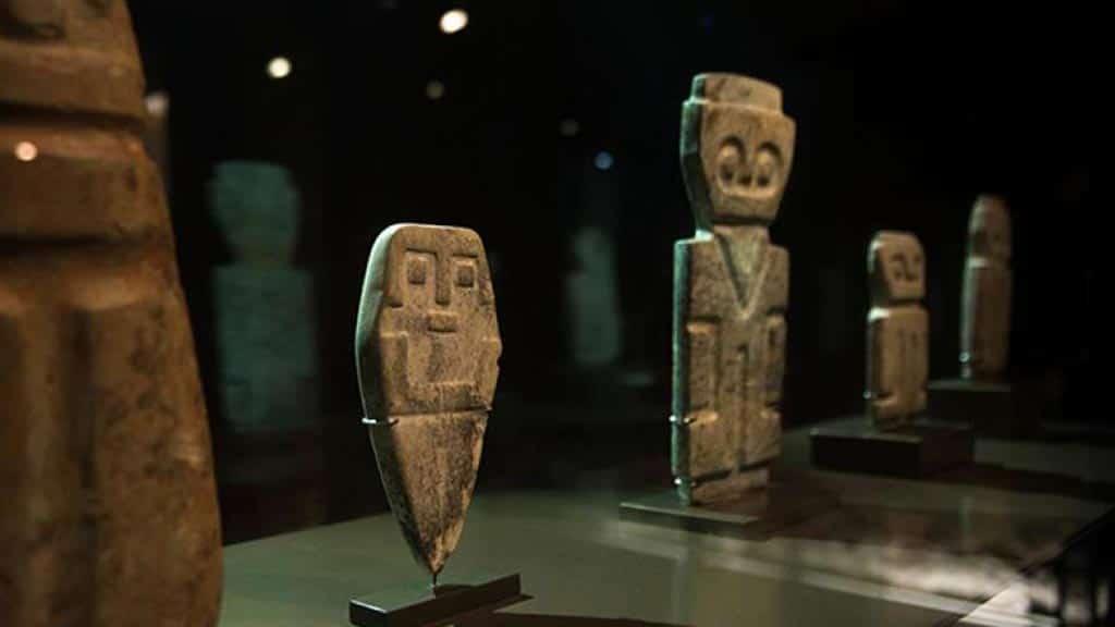 precolombine artefacts at museo el alabado quito ecuador