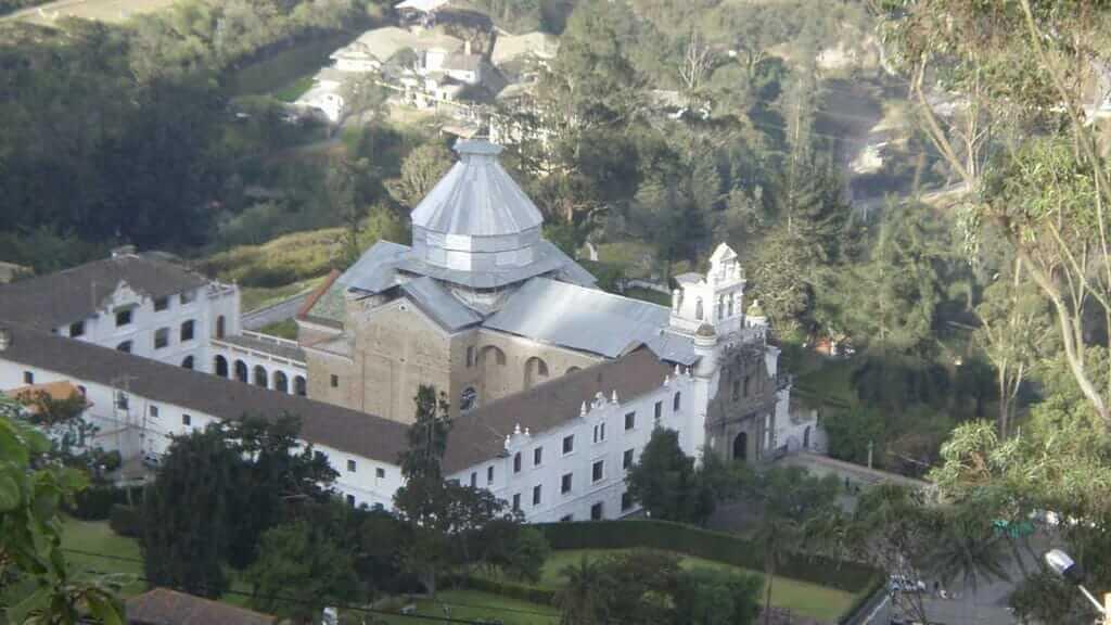 aerial view of guapulo church in quito ecuador