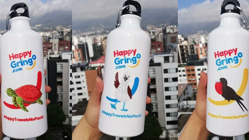 use happy gringo galapagos water bottles to keep the galapagos islands plastic free