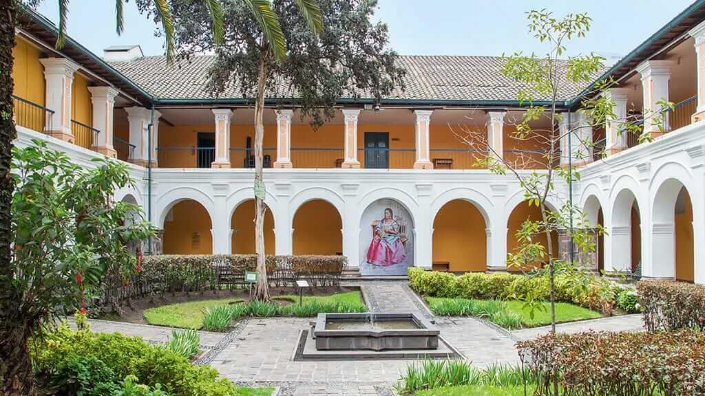 inner plaza at city museum quito ecuador