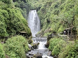 peguche waterfall in ecuador
