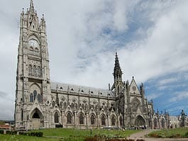 gothic basilica church in quito ecuador