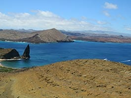 galapagos island hopping tours visit bartolome island and pinnacle rock landscape