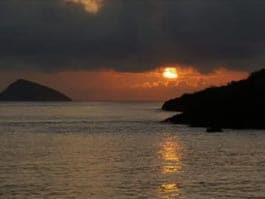 galapagos islands sunset as enjoyed by pirates