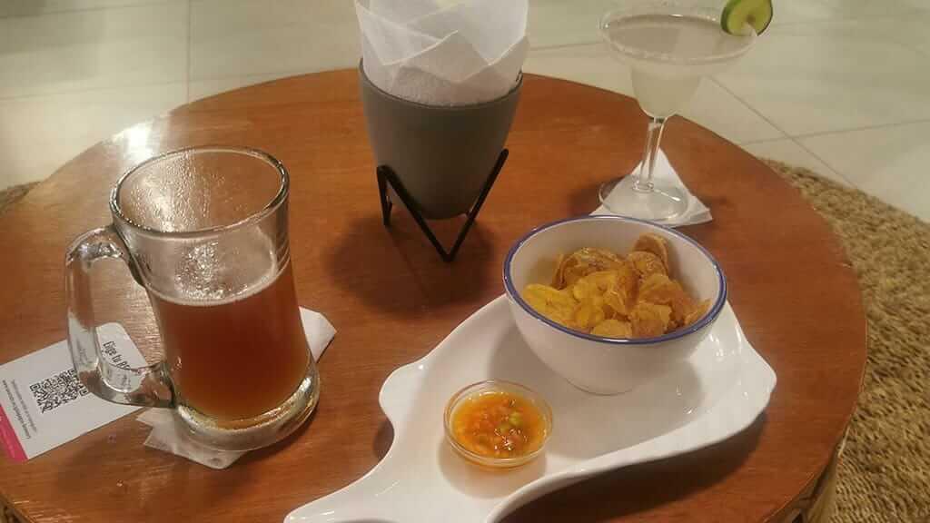 food and beer at ukku akai bar restaurant puerto ayora santa cruz island galapagos
