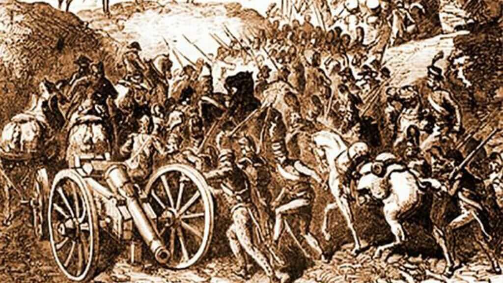 fierce fighting at the battle of pichincha in quito ecuador