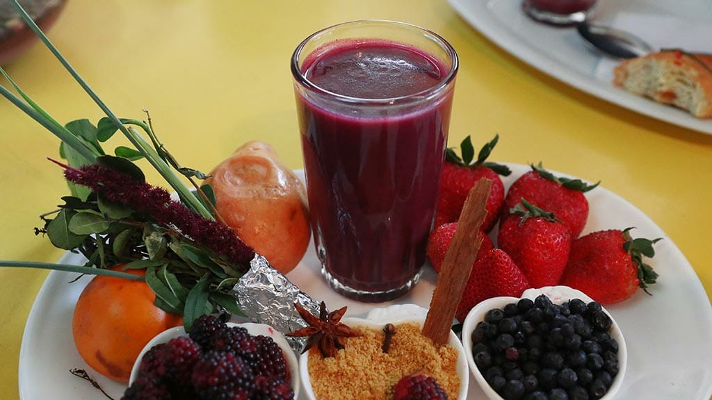 colada morada ecuador drink made from red berries and spices