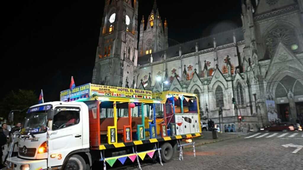 chiva party bus fiestas de quito public holiday ecuador