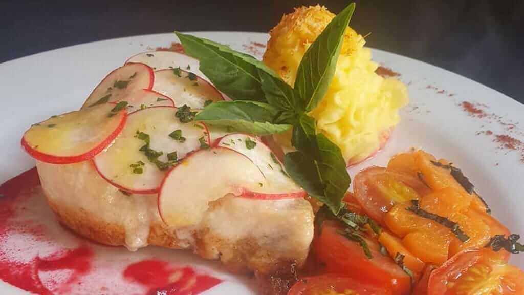 fresh seafood dish at garrapata restaurant puerto ayora santa cruz galapagos