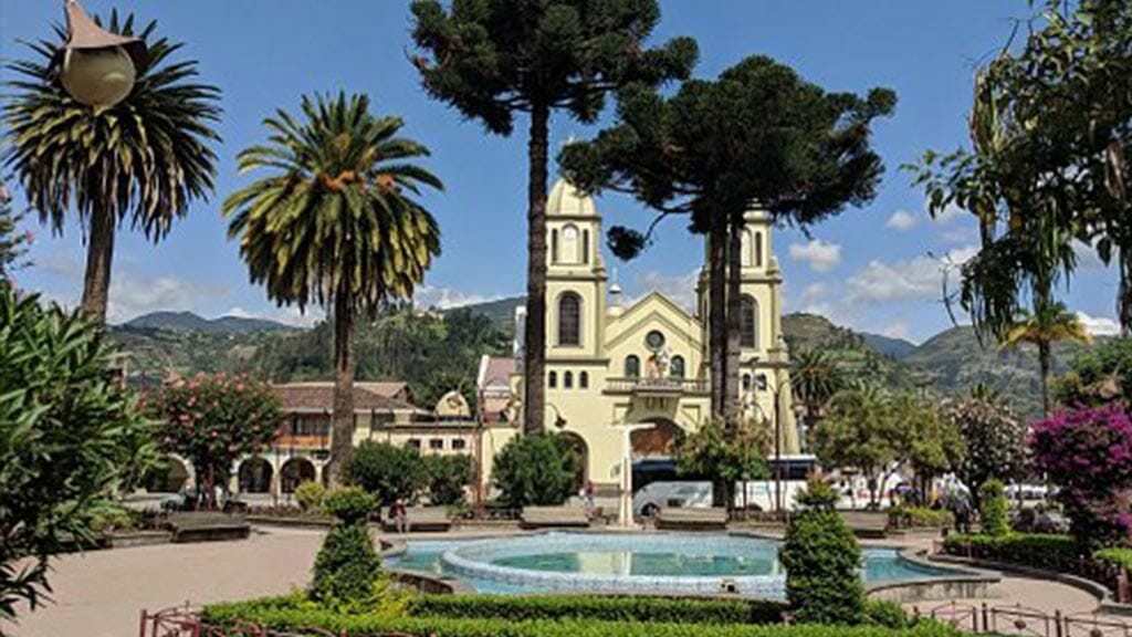 gualaceo town plaza close to cuenca ecuador