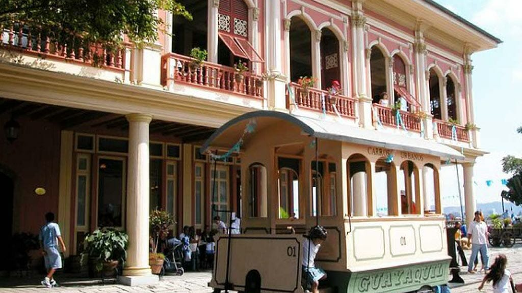carriage in guayaquil's historic park (parque historico)