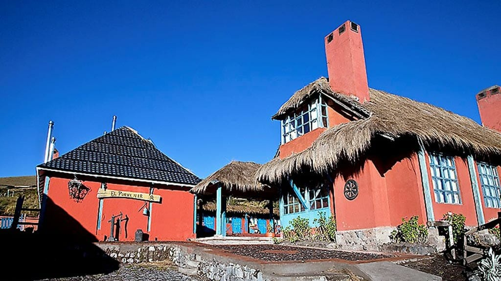 exterior of hacienda el porvenir in cotopaxi national park ecuador