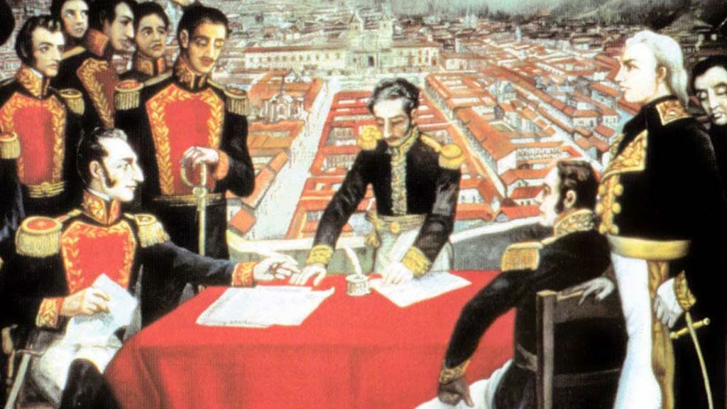 battle of pichincha ecuador 24th May - the spanish surrender of the city of quito