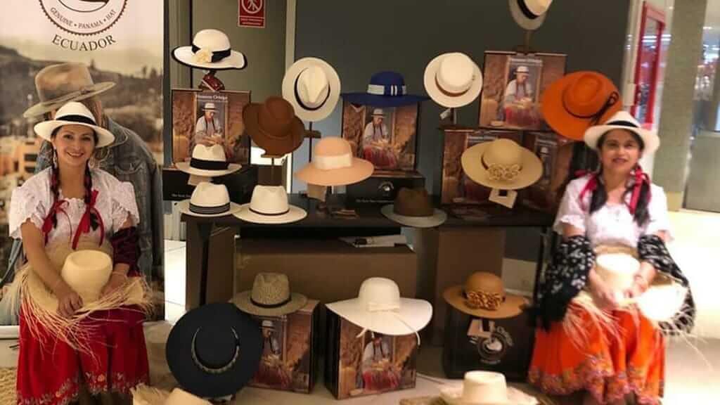 panama hat souvenirs for sale at homero ortega quito ecuador