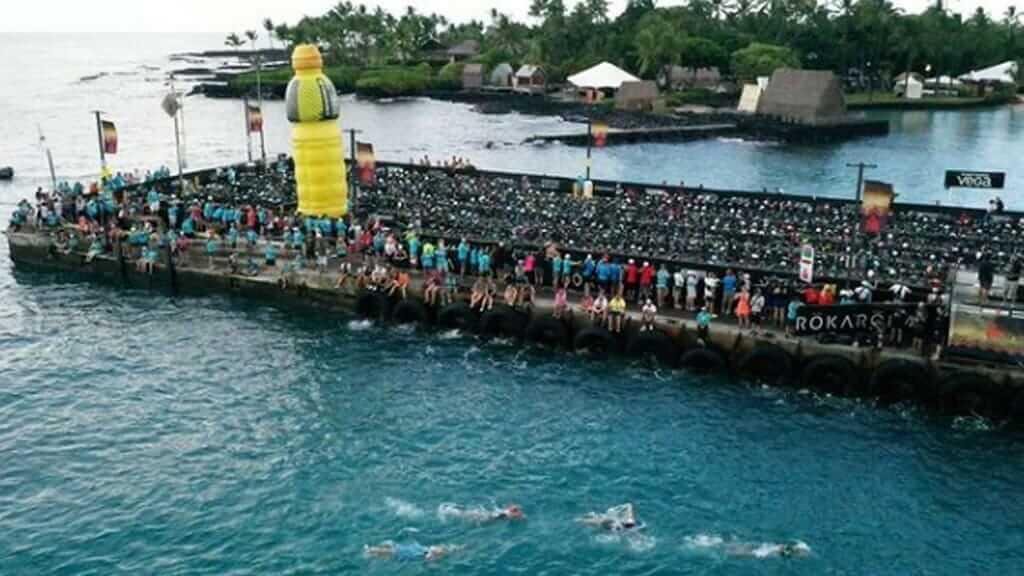 swimming race of iron man ecuador