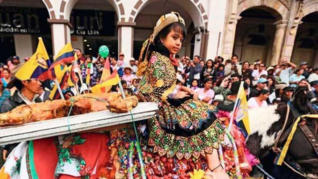 pase del niño religious parade in cuenca ecuador