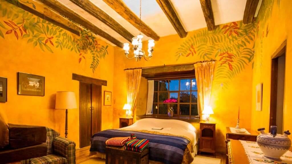 bedroom at hacienda san agustin de callo cotopaxi ecuador