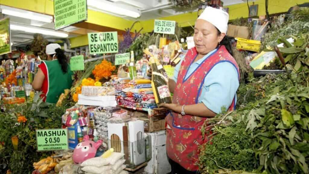medicinal plants for sale at santa clara market ecuador