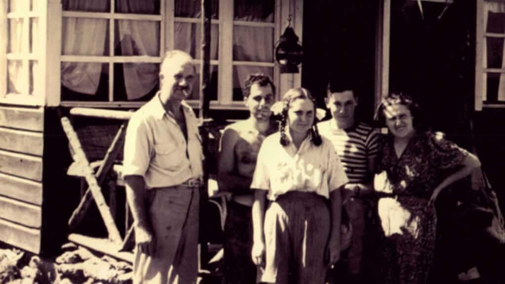 the wittmer family on floreana galapagos