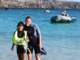 galapagos snorkeling with kids
