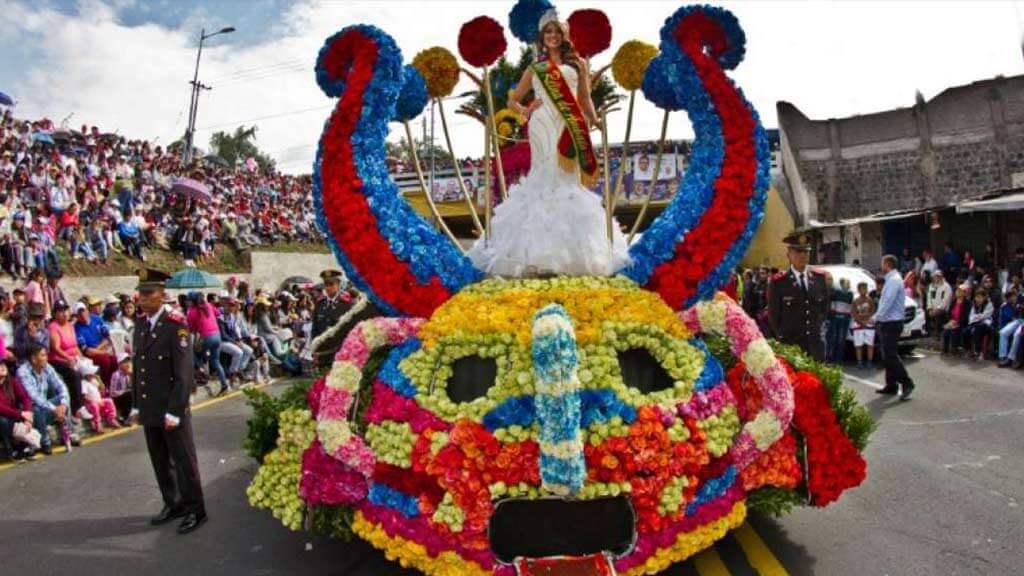 ambato carnival parade ecuador