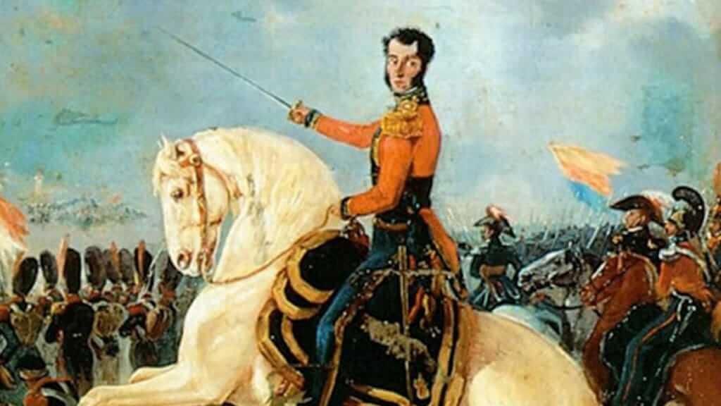 antonio jose de esucre leads patriots in battle of pichincha ecuador independence 24 may 1822
