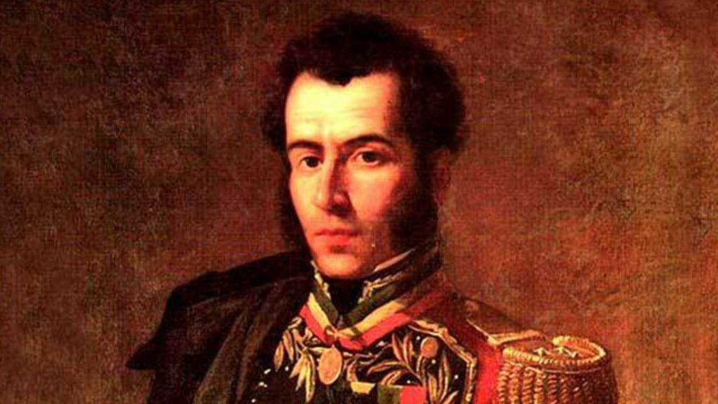 portrait of antonio jose de sucre, leader of the patriot army battle of pichincha ecuador