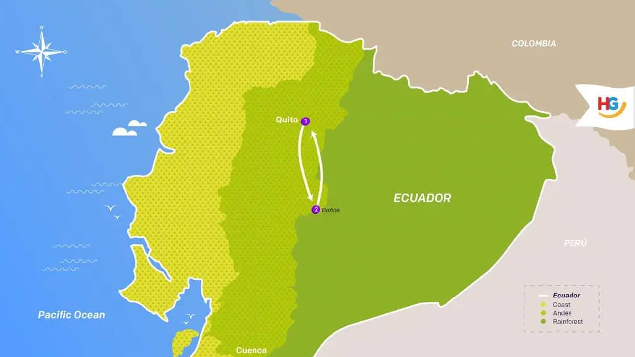 baños-highlight-tour-itinerary-map