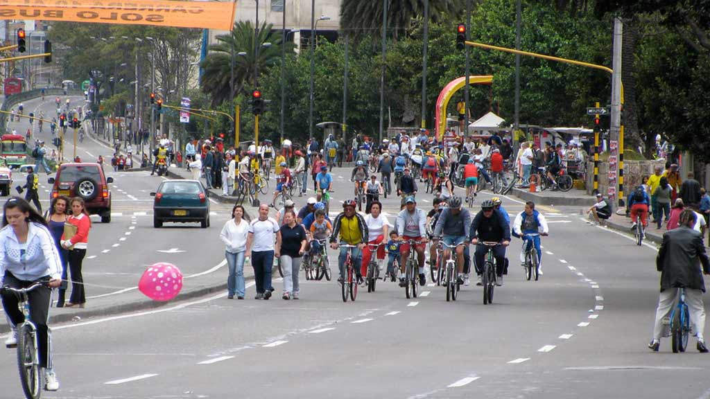 bogota bicycle route in colombia