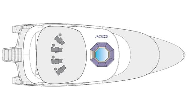 Camila Galapagos Cruise Trimaran – camila sun deck