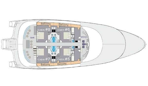 Camila Galapagos Cruise Trimaran – camila upper deck
