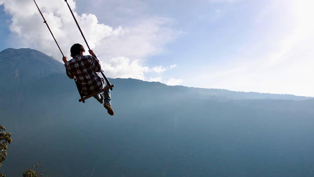 swing at the end of the world tungurahua volcano banos