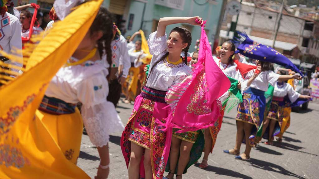 street parades are part of ecuador carnival festival celebrations