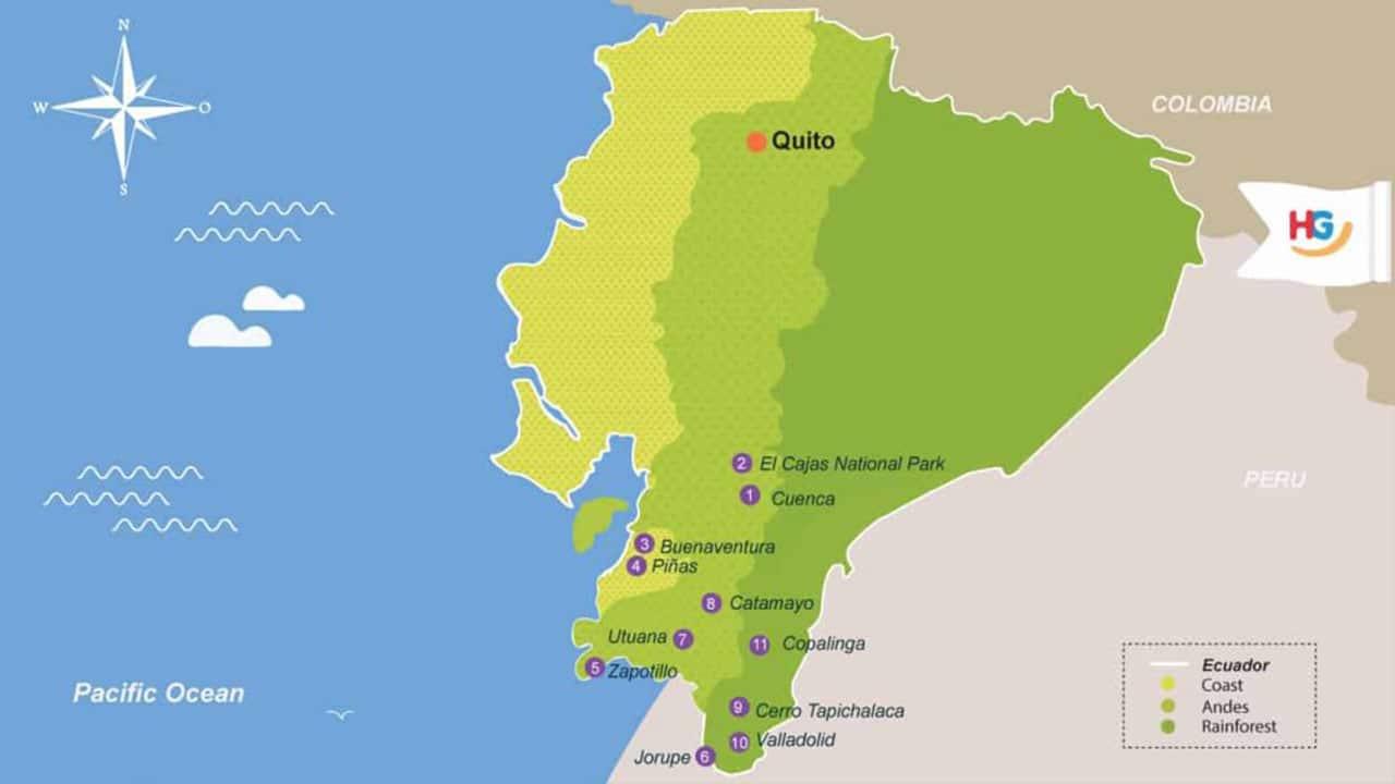 ecuador-birding-southern-highlights-itinerary-map