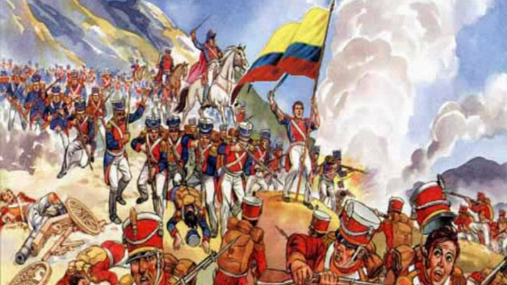 ecuador independance battle of pichincha 24th may, the brave patriots defeat spanish army