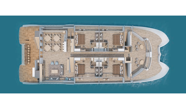 endemic Galapagos Cruise catamaran - Endemic main deck